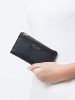KATE SPADE Sylvia Small Slim Bifold Wallet Black