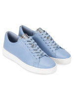 MICHAEL KORS Keaton Leather Lace Up Sneaker Powder Blue Sz 7