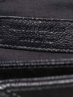 YSL Grain de Poudre Matelasse Chevron Medium Tribeca Tote Black