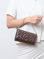 KATE SPADE Briar Lane Quilted Milou Metallic Oak