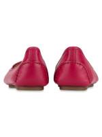 MICHAEL KORS Lillie Leather Flats Berry Sz 9