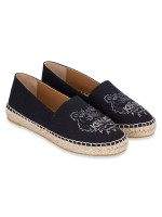 KENZO Tiger Canvas Christmas Espadrille Black Sz 37