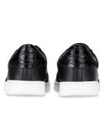 BALLY Men Wilsy Leather Sneakers Black Plain Sz 41
