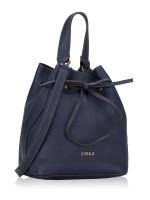 FURLA Costanza Leather Bucket Bag Navy