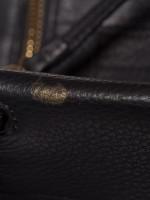 TORY BURCH Halfmoon Mini Leather Satchel Black