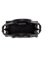 FURLA Pin Mini Leather Satchel Onyx