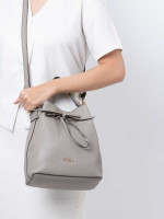 FURLA Costanza Leather Bucket Bag Sabia