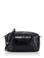 BIMBA Y LOLA Leather Rectangular Crossbody Black