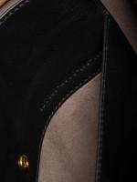 FENDI Flip Regular Shoulder Bag Black Brown