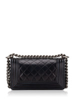 CHANEL Calfskin Small Boy Flap Bag Black