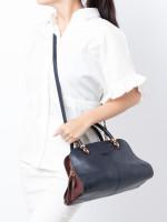 TOD'S Sella Small Bowler Bag Navy Blue