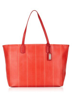 COACH 23108P Legacy Weekend Ticking Stripe Tote Red
