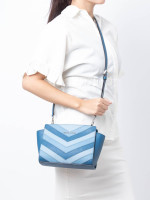 MICHAEL KORS Selma Medium Chevron Messenger Sky