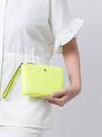 KATE SPADE Jae Medium Double Zip Wristlet Radiant Yellow