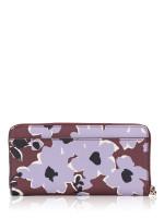 KATE SPADE Cameron Wildflower Bouquet Large Continental Wallet Purple Multi