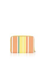 TORY BURCH Emerson Zip Coin Case Sunrise Stripe XL