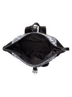 MICHAEL KORS Men Kent Printed Roll Top Backpack Black White