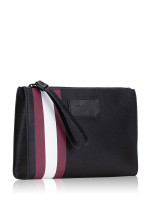 BALLY Men Skid Clutch Bag Black Red