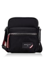 BALLY Men Faara Nylon Crossbody Bag Black Red
