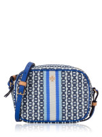 TORY BURCH Gemini Link Canvas Mini Bag Bondi Blue