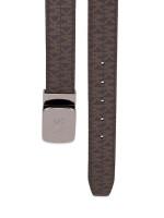 MICHAEL KORS Men Monogram Cut to Size Reversible 34mm Plaque Belt Brown Black