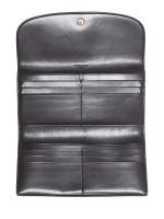 COACH 57319 Signature Checkbook Wallet Brown Black