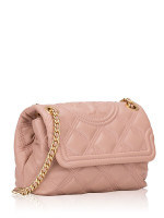 TORY BURCH Fleming Soft Leather Small Convertible Bag Pink Moon