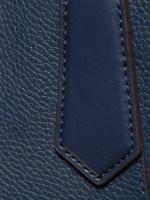 MICHAEL KORS Kimberly Large EW Leather Satchel Navy
