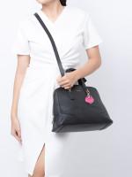FURLA Perla Medium Leather Satchel Black
