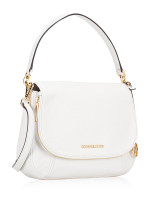 MICHAEL KORS Bedford Medium Leather Convertible Shoulder Bag Optic White