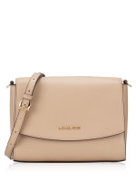 MICHAEL KORS Ellis Leather Medium Flap Messenger Bisque