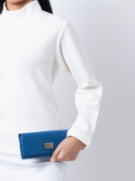 TOD'S Signature Embossed Wallet Blue