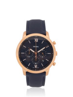 FOSSIL Men FS5454 Neutra Chronograph Leather Strap Navy